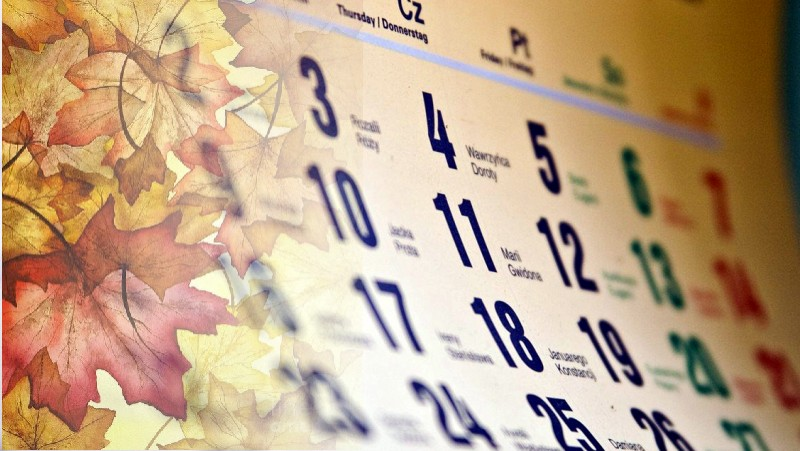 Kartka z kalendarza – półmetek listopada
